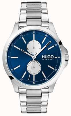HUGO #jump | bracelet en acier inoxydable | cadran bleu 1530004