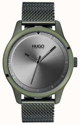 HUGO #move | bracelet maille ip vert | cadran gris 1530046