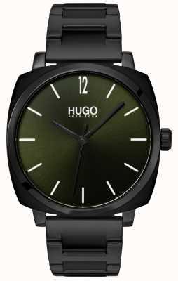 HUGO #own | bracelet ip noir | cadran noir 1530081