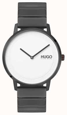 HUGO #echo | bracelet ip gris | cadran blanc 1520022