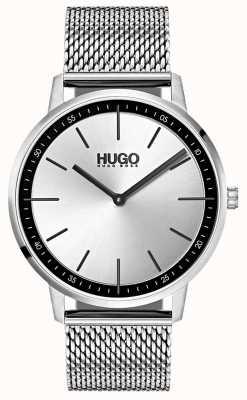 HUGO #exist | maille d'acier inoxydable | cadran argenté 1520010
