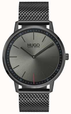 HUGO #exist | maille ip gris | cadran gris 1520012