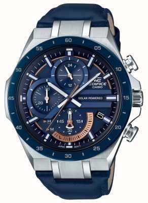 Casio | édifice | solaire | chronographe | cuir bleu | EQS-920BL-2AVUEF