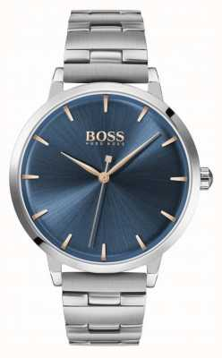 Boss | marina des femmes | bracelet en acier inoxydable | cadran bleu | 1502501