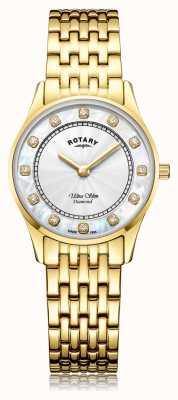 Rotary | femmes ultra slim plaqué or pvd | cadran en nacre LB08303/41/D