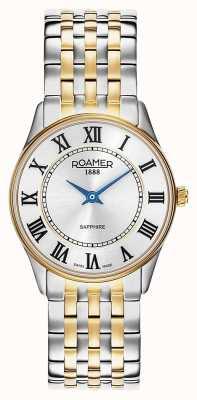 Roamer | des femmes | sonate | bracelet deux tons | cadran argenté | 520820-47-15-50