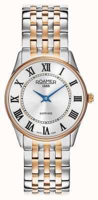 Roamer | sonate féminine | acier inoxydable deux tons | cadran blanc | 520820-49-15-50