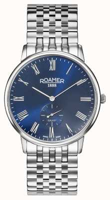Roamer | galaxie des hommes | bracelet en acier inoxydable | cadran bleu | 620710-41-45-50