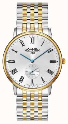Roamer | galaxie des hommes | acier inoxydable deux tons | cadran blanc | 620710-47-15-50