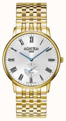 Roamer | galaxie des hommes | acier inoxydable plaqué or | cadran blanc | 620710-48-15-50