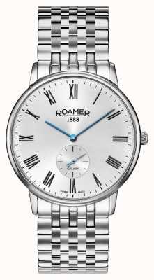 Roamer | éléments pour hommes | bracelet en argent inoxydable | cadran noir | 650810-41-55-50