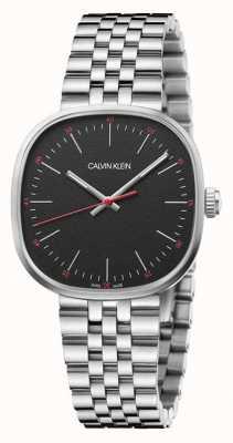 Calvin Klein | hommes | carrément | bracelet en acier inoxydable | cadran noir | K9Q12131