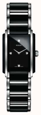 Rado Montre à cadran carré en céramique haute technologie avec diamants intégrés R20613712