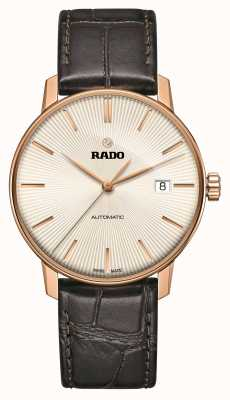 Rado Montre Coupole Classic automatique en cuir marron R22861115
