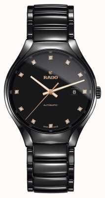 Rado Véritable montre automatique en céramique plasma haute technologie à diamants R27056732
