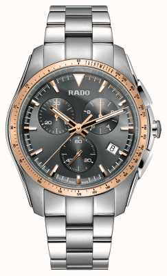 Rado Montre XXL hyperchrome chronographe en acier inoxydable à cadran gris R32259163