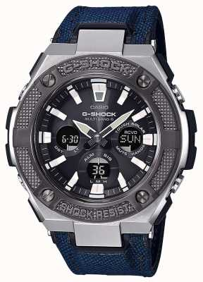 Casio | g-shock | g-acier | cordura bleu / bracelet en cuir | GST-W330AC-2AER