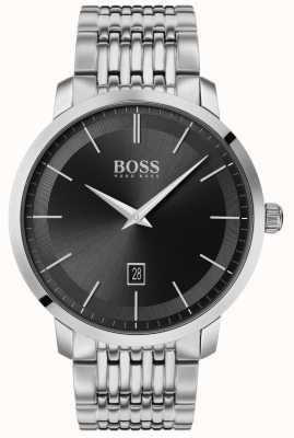 BOSS | classique premium pour hommes | acier inoxydable | cadran noir | 1513746