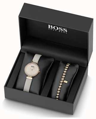 Boss Ensemble de montre et bracelet en cuir pour femmes en cuir 1570094