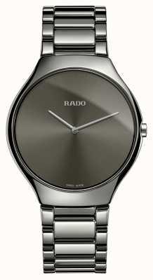 Rado Véritable bracelet en céramique grise fine montre cadran gris R27955122