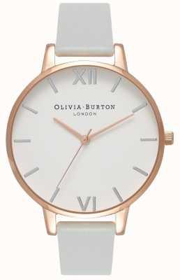 Olivia Burton | les femmes | grand cadran | bracelet vegan gris | OB16BDV02