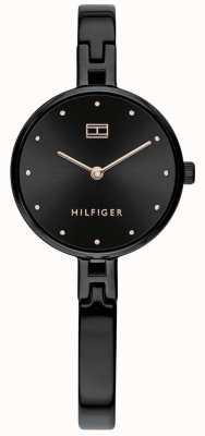 Tommy Hilfiger | kit femme | bracelet en acier inoxydable noir | cadran noir 1782136