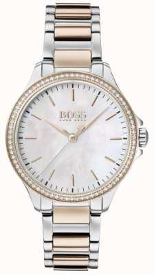 BOSS | diamants pour elle | bracelet deux tons | nacre 1502524