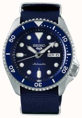 Seiko 5 sport | sports | automatique | cadran bleu | nato bleu SRPD51K2