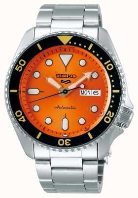 Seiko 5 sport   sports   automatique   cadran orange   acier inoxydable SRPD59K1