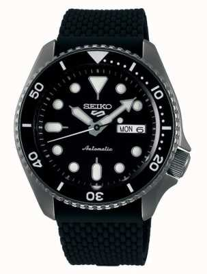 Seiko 5 sport | costumes | automatique | cadran noir | Caoutchouc noir SRPD65K2