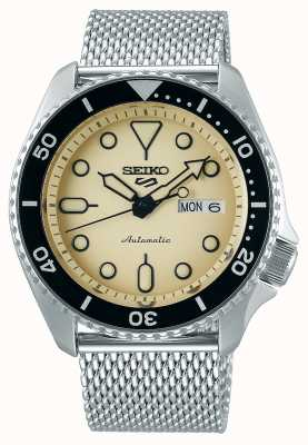 Seiko 5 sport | costumes | automatique | cadran champagne | maille d'acier SRPD67K1