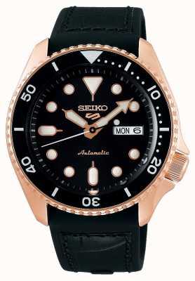 Seiko 5 sport | spécialiste | automatique | or rose & noir SRPD76K1