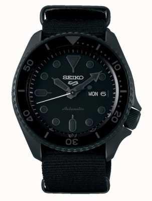 Seiko 5 sport   rue   automatique   cadran noir   nato noir SRPD79K1