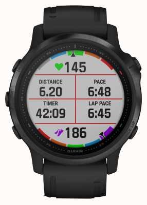 Garmin Fenix 6s pro | montre intelligente multisport | bracelet en caoutchouc noir 010-02159-14