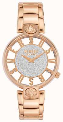 Versus Versace | kirstenhof des femmes | bracelet en or rose | cadran à paillettes | VSP491519