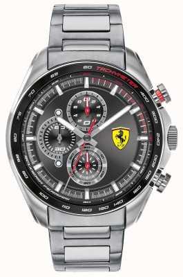 Scuderia Ferrari | coureur de vitesse pour hommes | bracelet en acier inoxydable | cadran noir 0830652