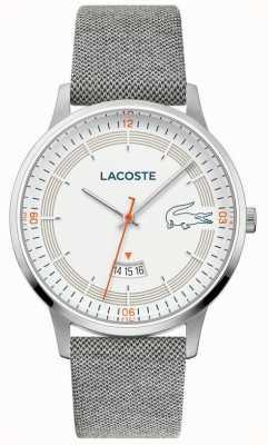 Lacoste | madrid hommes | bracelet en cuir gris | cadran blanc | 2011031