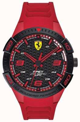 Scuderia Ferrari | apex des hommes | bracelet en caoutchouc rouge | cadran noir / rouge | 0830664