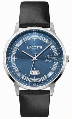 Lacoste | madrid hommes | bracelet en cuir noir | cadran bleu | 2011034
