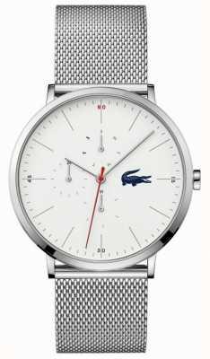 Lacoste | multi lune hommes | bracelet en acier inoxydable | cadran blanc | 2011025