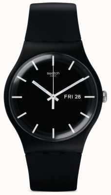 Swatch | nouveau gentil | montre mono noir | SUOB720