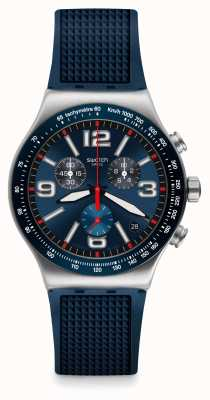 Swatch | nouvelle chrono ironie | montre grille bleue | YVS454