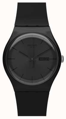 Swatch | nouveau gentil | montre noire rebelle | SUOB702