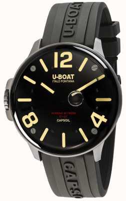U-Boat Electromécanique Capsoil ss | bracelet en caoutchouc noir 8110/A