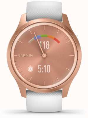 Garmin Style Vivomove | boîtier en aluminium or rose | sangle blanche 010-02240-00