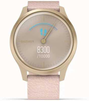 Garmin Style Vivomove | boîtier en aluminium or clair | bracelet rose 010-02240-02