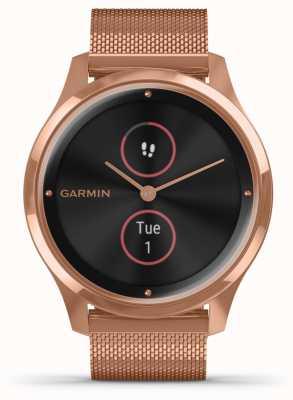 Garmin Vivomove luxe | Boitier pvd 18ct | bracelet milanais en or rose 010-02241-04