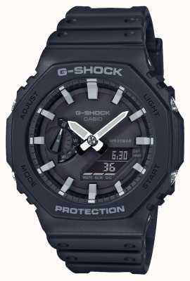 Casio | noyau de carbone g-shock | série octogonale | bracelet en résine noire | GA-2100-1AER