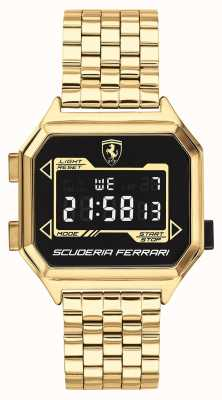 Scuderia Ferrari | digidrive des hommes | bracelet plaqué or | cadran noir | 0830705