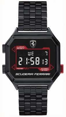 Scuderia Ferrari | digidrive des hommes | bracelet plaqué ion | cadran noir | 0830704
